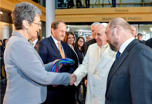 Pope Francis Gets Rainbow Scarf