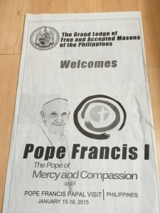 Freemasons in the Philippines welcome Pope Francis
